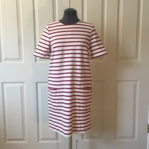 Marc Jacobs Red and White Stripped Dress